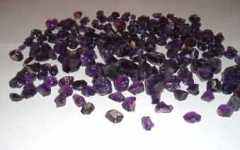 Ready to pick from amethyst parcel