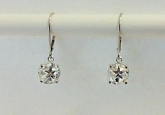 Earrings - 8.4mm Lone Star Cut Texas topaz