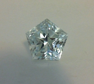 Pentagon shape natural topaz with Lone Star Cut pavilion and table