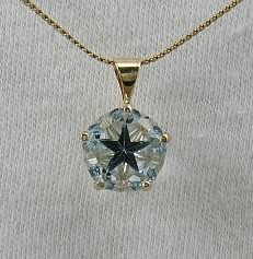 5.7 ct Blue Lone Star Topaz