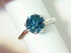 2.36 ct Texas Lone Star Cut London blue topaz