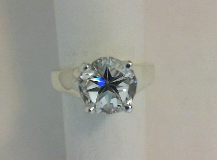 Mason County Texas Lone Star Cut topaz in solitare ring